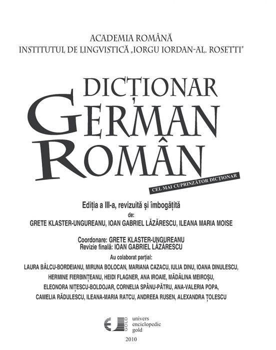 German roman pdf dictionar