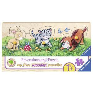 Puzzle Din Lemn Animalute, 3 Piese (RVSPC03203)