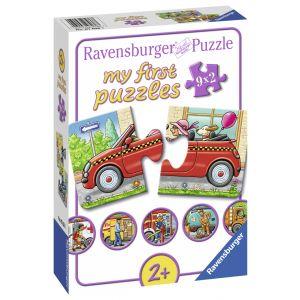 Puzzle Vehicule, 9X2 Piese (RVSPC07036)