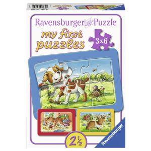 Puzzle Animalute, 3X6 Piese (RVSPC07062)