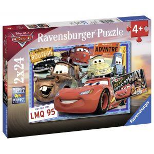 Puzzle Cars, 2X24 Piese (RVSPC07819)
