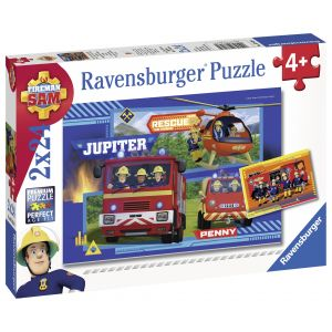 Puzzle Echipa Pompier Sam,2X24Piese (RVSPC07826)