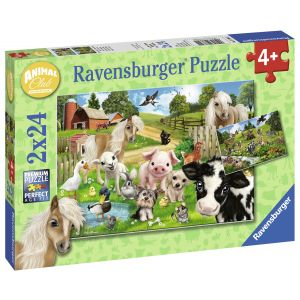 Puzzle Ferma Animalelor, 2X24 Piese (RVSPC07830)