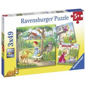 Puzzle Personaje Disney, 3X49 Piese (RVSPC08051)