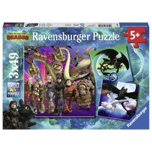 Puzzle Dragons Iii, 3X49 Piese (RVSPC08064)