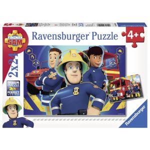 Puzzle Pompierul Sam, 2X24 Piese (RVSPC09042)