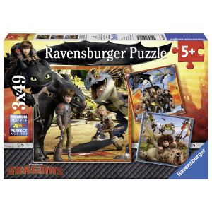 Puzzle Dragons, 3X49 Piese (RVSPC09258)