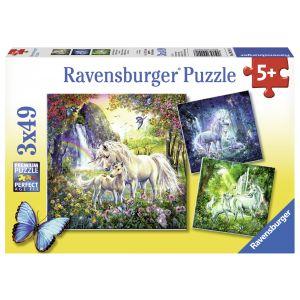 Puzzle Unicorni, 3X49 Piese (RVSPC09291)