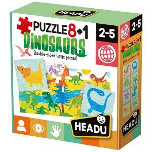 8+1 Puzzle Dinozauri (HE22243)