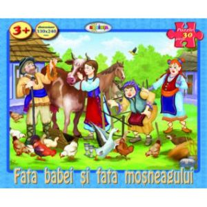 Puzzle - Fata Babei Si Fata Mosneagului (30 De Piese)