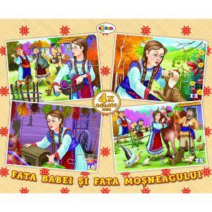 Puzzle - Fata Babei Si Fata Mosneagului (4 Imagini - 59 De P