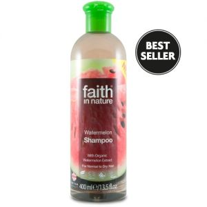 Sampon cu pepene, pt. par normal sau uscat, Faith in Nature, 400 ml (FN047)