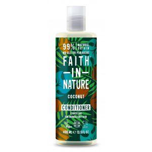 Balsam de par cu cocos, pt. par normal sau uscat, Faith in Nature, 400 ml (FN041)
