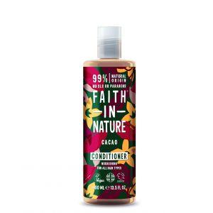 Balsam de par cu cacao, pt. toate tipurile de par, Faith in Nature, 400 ml (FN034)