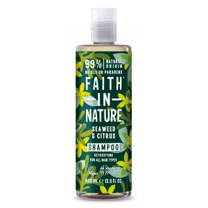 Sampon cu alge marine si citrice, pt. toate tipurile de par, Faith in Nature, 400 ml (FN032)