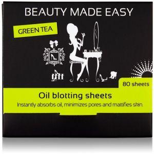 Foite matifiante, cu ceai verde, pentru ten, 80 buc, Beauty Made Easy (BME009)
