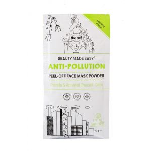 Masca pell off anti-poluare, cu chlorella si carbune activ, Beauty Made Easy, 10 g (BME010)