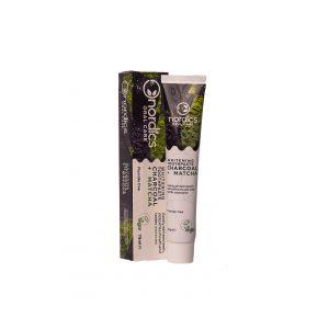 Pasta neagra de dinti cu carbune activ si ceai verde Matcha, pt. albirea dintilor, Nordics, 75 g (NDS006)