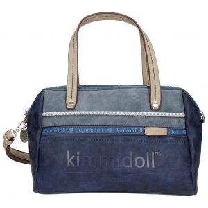 Geanta Kimmidoll cu manere, albastra