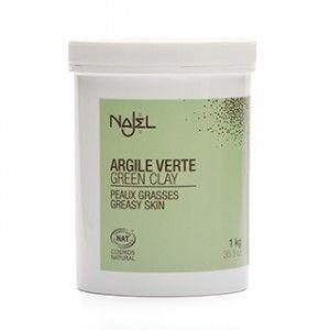 Argila verde fina pentru ten mixt sau gras, 1 kg (ARG07NJ)