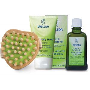 Ulei anti-celulitic mesteacan & Lotiune dus exfolianta - cu perie masaj & borseta cadou (NE222056)