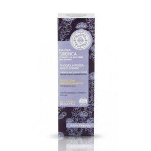 Crema de noapte protectoare regeneranta ten sensibil, Rhodiola Rosea, 50 ml (1267E)