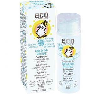 Crema bio protectie solara bebe si copii FPS50+, piele foarte sensibila, FARA PARFUM (73258)