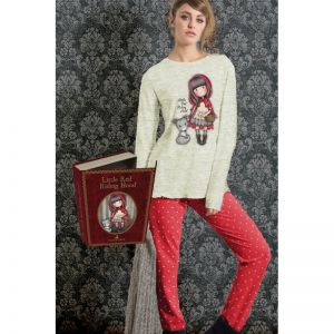 Pijama copii Santoro Gorjuss - Little Red Riding Hood, lungi