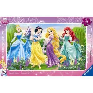 Puzzle Printesele Disney La Plimbare, 15 Piese