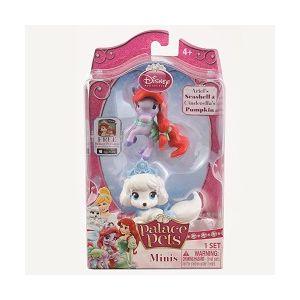 Figurine Disney 3.8 Cm - Catelusul Cenusaresei Si Poneiul Lui Ariel (seashell Si Pumpkin)