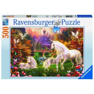 Puzzle Unicorni, 500 Piese