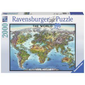 Puzzle Harta Lumii, 2000 Piese