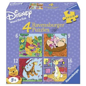 Puzzle Winnie The Pooh, 6/9/12/16 Piese