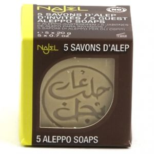 Pachet sapun de Alep mini, 5 buc X 20g (SAV15NJ)