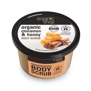 Scrub de corp delicios cu miere si scortisoara Honey Cinnamon, 250 ml (2509E)