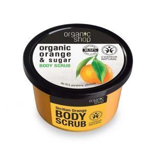Scrub de corp delicios cu zahar si portocala Sicilian Orange, 250 ml (2660E)