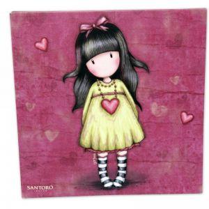 Tablou 24x24 canvas Gorjuss- Heartfelt