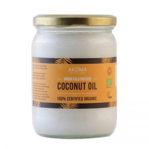 Ulei de cocos virgin certificat organic, presat la rece, 500 ml (AKM092)