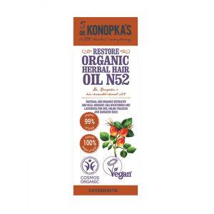 Ulei organic No.52, regenerant pentru par uscat, deteriorat, 30 ml (9256E)